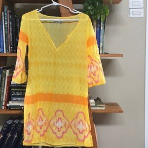 Fun, yellow beach coverup/tunic